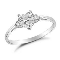 simple heart engagement ring - absolutely perfect <3