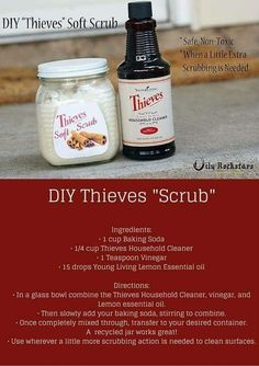 Replace toxic Soft Scrub and Comet with homemade Thieves Cleaner scrub