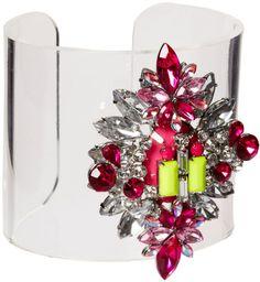 JEWELED CUFFS AND BANGLES PINTEREST | Asos Jewel Perspex Cuff Bracelet in Transparent (multi) - Lyst