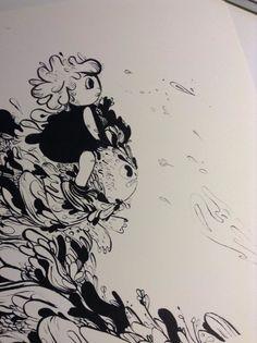 PRE ADVENTURE - Karina Posborg  Karina Posborg - ink - dragons - creatures - character design - monster - bloob - woobly - artwork -