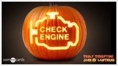 I want to make this!!! Truly Terrifying Jack O' Lantern: Car trouble.