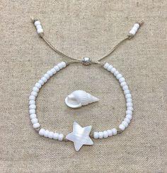 beach bracelet shell jewelry boho style gift for her Summer Jewelry, Beach Jewelry, I Love Jewelry, Boho Jewelry, Jewelry Crafts, Jewelery, Fashion Jewelry, Jewelry Making, Jewelry Design