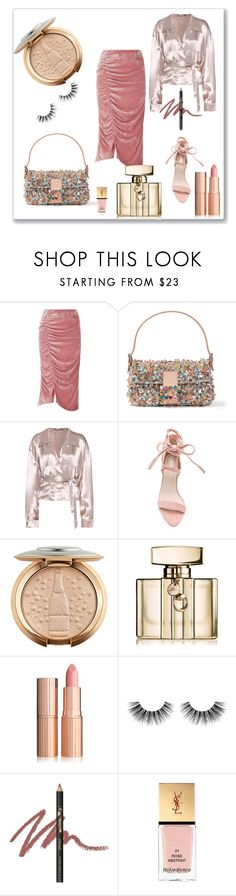 """Dinner with my friends"" by robbys73 ❤ liked on Polyvore featuring VIVETTA, Fendi, Attico, Gucci, Velour Lashes, INIKA and Yves Saint Laurent"