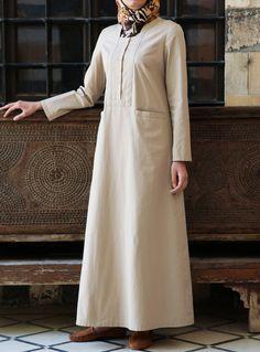 Adila Cotton Dress in Camel