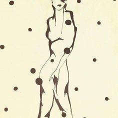 'Dancing On My Own' by Angela Porter #fashionillustration #fashionillustrator #fashion #drawing #art #arttoronto #torontofashion  https://www.facebook.com/porter.lialias.co/