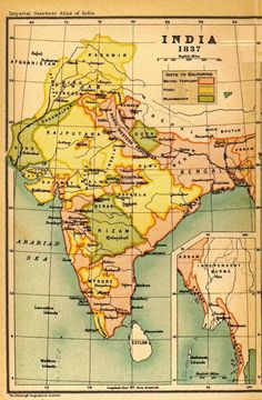 1902 Map Of India Then A Colony Canvas Print Canvas Art By