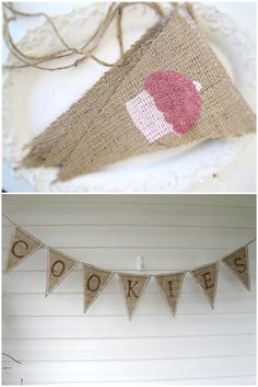 Burlap Banners for Sweets