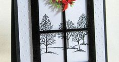 Two faves here: Lovely as a Tree stamp set and Grand Madison window die; well, 3: Kittie C from SCS