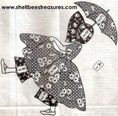 Sunbonnet Sue Quilt Designs | Sunbonnet Sue-Umbrella Girl Applique Quilt Pattern - Ad#: 1180933 ...