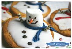 Schneemann - Amerikaner! Eine lustige Idee für die Vorweihnachtszeit! www.rezepte-glutenfrei.de