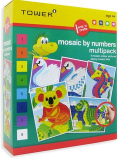 Enjoy all your favourite designs in one pack! These multipacks are the ultimate 'edutainment' product that will keep kids entertained for hours while having fun learning! Office Organisation, Colorful Pictures, Fun Learning, Mosaic Tiles, South Africa, Have Fun, Arts And Crafts, Tower, Entertaining