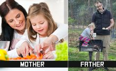 10 Ways Moms and Dads Take Care Of Their Kids Differently -(Photo Gallery)-Please check the website for more pics | butruths