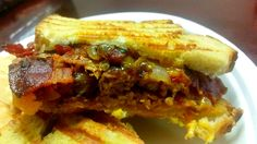 Meatloaf & Bacon Panini  http://www.duckinapot.com/red-meat/meatloaf-baconpanini/