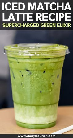 This matcha green tea beverage is packed with antioxidants and other health benefits. A clean eating, dairy-free, gluten-free, sugar-free and vegan recipe! Made with almond milk or macadamia nut milk. Milk Tea Recipes, Green Tea Recipes, Coffee Recipes, Milk Green Tea Recipe, Green Tea Frappucino Recipe, Green Tea With Milk, Flour Recipes, Matcha Drink, Matcha Smoothie