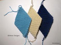 How to Crochet a Triangle and a Diamond