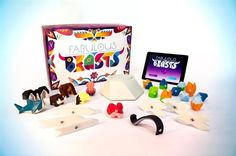 Clever 3D printed physical/virtual board game Fabulous Beasts is now live on Kickstarter