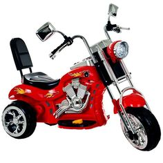 Ride on Toy, 3 Wheel Trike Chopper Motorcycle for Kids by Lil Rider - Battery Powered Ride on Toys for Boys and Girls, 2 - 4 Year Old - Red