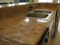 Tile Kitchen Countertop Refinshing After By Demcopros Via Flickr