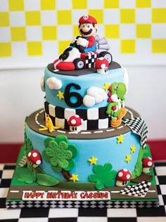 Mario Bros Birthday Cake Supplies