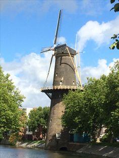 4 augustus 2017 - Schiedam: stad van jenever, de hoogste molens ter wereld, de Schie met de talloze metalen ophaalbruggen, Zakkendragers(huis), St Janskerk, prachtige panden en monumenten.
