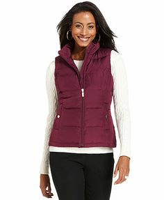Charter Club Jacket, Sleeveless Quilted Ruched Vest. Forever hunting for cheaper vests. $29.99