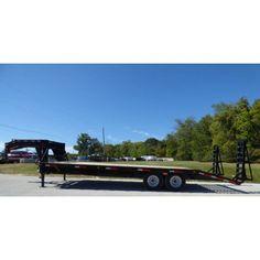 Equipment Trailer 8.5' x 25' - Gooseneck Flatbed Car Hauler