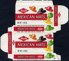 Heide - Mexican Hats candy box - 1970 by JasonLiebig, via Flickr