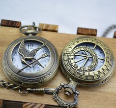 2014 New Pocket Watch The Hunger Games Cool Bird Steampunk Reloj Bronze Necklace Antique Whatch Harry Potter Relogio Masculino-in Pocket & Fob Watches from Watches on Aliexpress.com | Alibaba Group