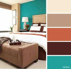 Great home decorating ideas For the bedroom color combinations