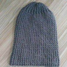 Artesanatos da Dessa : Touca de tricô masculina