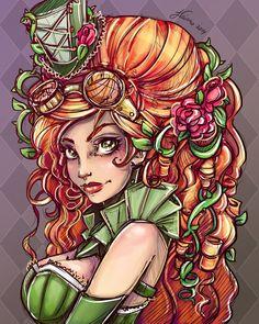 """steampunksteampunk: """"Steampunk Ivy Portrait """""""