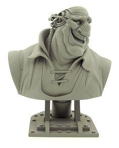 Treasure Planet - Captain John Silver #maquette - Kent Melton