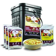 Wise Foods 120 Serving Entrée Only Grab and Go servings of emergency food entrees packaged in 4 serving pouches. Best Emergency Food, Emergency Food Storage, Emergency Food Supply, Emergency Preparedness, Emergency Supplies, Prepper Supplies, Emergency Preparation, Wise Food Storage, Long Term Food Storage