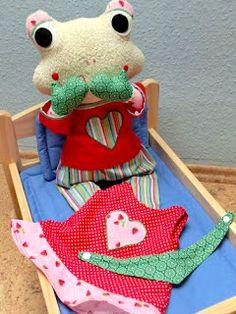 Kleid für Puppen, Kuscheltiere nähen, selbermachen