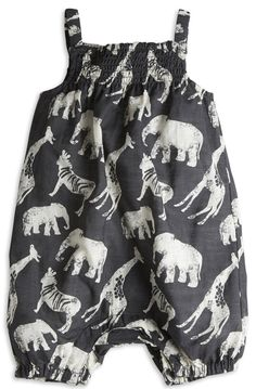 Safari romper, how cute is this? #girls #fashion #designer #estella