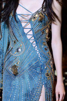 #Versace Spring 2013 Ready-to-Wear Blue Dress