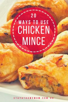 """""""Looking for new ways to use up chicken mince? We have not just one, two – but 20 recipes on how to cook chicken mince! All delicious and well-loved by the whole family. Minced Meat Recipe, Minced Chicken Recipes, Healthy Chicken Recipes, Recipes With Chicken Mince, Mince Recipes, Cooking Recipes, Mince Meals, Duck Recipes, Budget Recipes"""