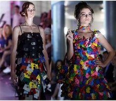 Eco Clothing Fashion: अजबगरब चज पहनकर रप पर आई मडल दख तसवर
