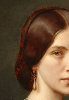 Once upon a time there was a look . of Mrs Agnes Jordan by Theodor Grosse, 1865 Classic Paintings, Old Paintings, Beautiful Paintings, Aesthetic Painting, Aesthetic Art, Renaissance Kunst, Victorian Paintings, Classical Art, Detail Art
