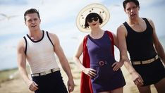 What is life without a skinny dip ... Essie Davis plays Miss Fisher.