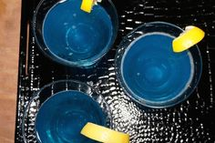 """Our version of a """"Blue Bell"""" a beautiful specialty drink ."""