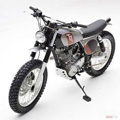Yamaha SR400 by Jeff Palhegyi | built in 8 days | photography by Ryan Hagel