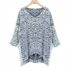 Fashionable Style V-Neck Loose-Fitting Asymmetrical Long Sleeve Cheap Oversized Sweater For Women