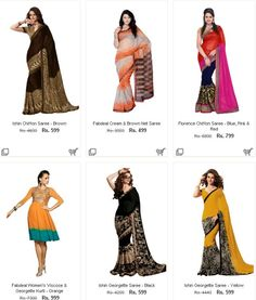Homeshop 18 Women's Saare Sale - Upto 90% Off   Extra 12% Off on Various Categories - Couponscenter
