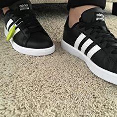 adidas scarpe da donna cloudfoam vantaggio le scarpe da ginnastica, bianco / nero
