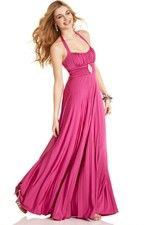 This unique design wedding party dresses called  Fancy Fuchsia Empire Plus Size Features Halter Neck And Exquisite Brooch Detail Bridesmaid Dress  which can show females' curve perfectly. This dress made of Satin fabric, featuring on Pleats embellishment and its Off Shoulder neckline is the bestseller of Plus Size Bridesmaid Dresses And we also offer various of wedding party dresses in the latest designs leading the fashion trends. - $141.29