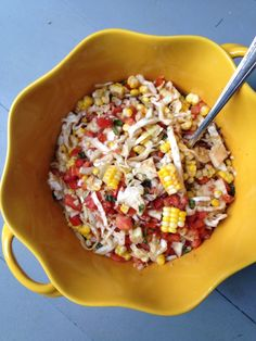 Summer Tomato-Corn Relish: The perfect simple end-of-summer side dish/relish/condiment.  From themom100.com.