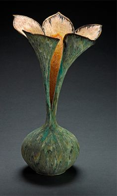 Susan Anderson, #inspiration, #decorativetechnique. slab built addition to thrown bottom or altered thrown form