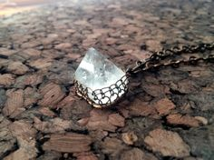 Apophyllite Pyramid Wire-Wrapped Pendant Necklace on Etsy, $48.00