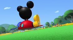 """Super Mickey testing his super strength before his friends eyes in the Mickey Mouse Clubhouse movie: """"Super Adventure"""" Disney Mickey Mouse Clubhouse, Super Adventure, Mickey And Friends, Comic Strips, Strength, Movie, Make It Yourself, Cartoon, Eyes"""